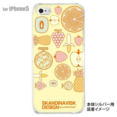 【iPhone5S】【iPhone5】【Clear Fashion】【iPhone5ケース】【カバー】【スマホケース】【クリアケース】【フラワー】【北欧デザイン】 10-ip5-skv-09の画像