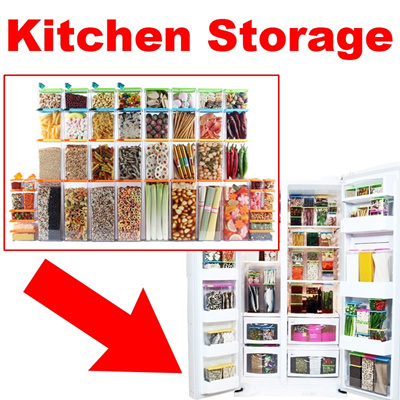 Qoo10 kitchen storage refrigerator food storage for Qoo10 kitchen set