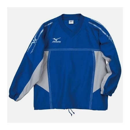 【クリックで詳細表示】ミズノ(MIZUNO) タフブレーカーシャツ A60WS15522 ブルー×シルバー 【メンズトレーニングウェア ウインドブレーカー アスレ】
