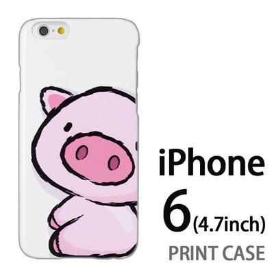 iPhone6 (4.7インチ) 用『0723 ブタちゃん』特殊印刷ケース【 iphone6 iphone アイフォン アイフォン6 au docomo softbank Apple ケース プリント カバー スマホケース スマホカバー 】の画像