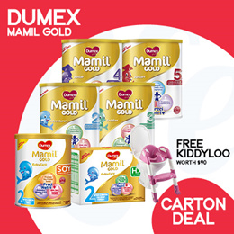 [DUMEX]【FREE GIFT ABOVE $220】 [CARTON DEAL] Mamil Gold Step 2/3/4/5/ HA/ Soy/ Babies/ Kids Milk
