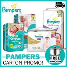 [Pampers] [2 Carton Bundle!] Baby Dry Diapers Pants / Diapers / Premium Care Diapers / Silk Pants