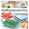 [Made in Korea] 6 and 12 Compartments Baby Food Freezing 1 + 1/ Eco-friendly products / Food Container/ Ice Cube Tray/ Food Grade Silicone