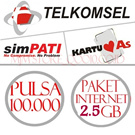 [*PULSA HEMAT* *PAKET INTERNET HEMAT*] Pulsa Telkomsel Rp. 100.000 / PAKET INTERNET 2.5 GB / PUSAT TELKOMSEL Rp.200.000