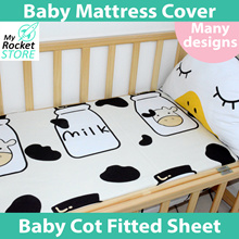Baby Cot Fitted Sheet /Crib Fitted sheet/Bed Sheet/ Flat Sheet / Pillow/ Waterproof Mat