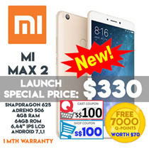 Xiaomi Mi Max 2 Smartphone / 6.44inch Display / 64GB ROM + 4GB RAM / Export Set w 1 mth warranty