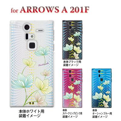 【ARROWS ケース】【201F】【Soft Bank】【カバー】【スマホケース】【クリアケース】【フラワー】【Vuodenaika】 21-201f-ne0026caの画像
