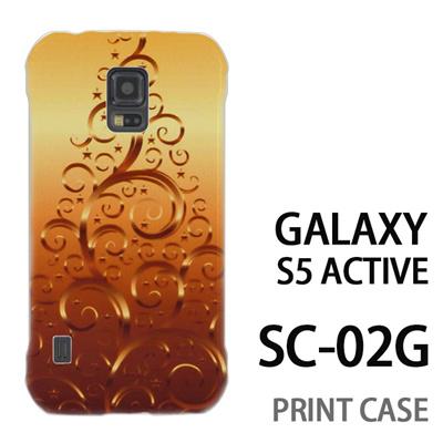 GALAXY S5 Active SC-02G 用『1206 蔓ツリー ゴールド』特殊印刷ケース【 galaxy s5 active SC-02G sc02g SC02G galaxys5 ギャラクシー ギャラクシーs5 アクティブ docomo ケース プリント カバー スマホケース スマホカバー】の画像