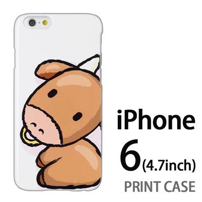 iPhone6 (4.7インチ) 用『0723 干支 丑』特殊印刷ケース【 iphone6 iphone アイフォン アイフォン6 au docomo softbank Apple ケース プリント カバー スマホケース スマホカバー 】の画像