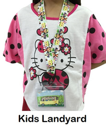 Kids Landyard for Bus or MRT Card/ School Name Tag/ Specially made for smaller children.