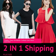 [2 in 1 Shipping]PLUS SIZE #The Korean Style!# Multi Choice Design Ladies Dress/ Chiffon/ Classy/ Workdress/ Cocktail/ Over Sized Sexy Dress