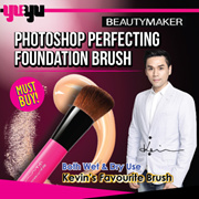 [BEAUTYMAKER]✮KEVIN MUST HAVE✮Photoshop Perfecting Foundation Brush 美肌修修無痕專業粉底刷✮0.06mm ULTRA FINE BRISTLES✮CONCEAL PORES FINE LINES✮NO CAKEYNESS✮