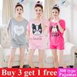 Women sleepwear  summer sleepwear girl pajamas cotton material nightdress lingerie