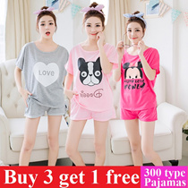 Women sleepwear  summer sleepwear girl pajamas cotton material nightdress lingerie