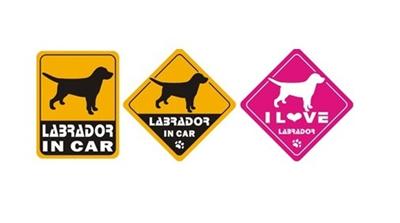 【メール便送料無料】オリジナルステッカー・ラブラドールレトリーバー・LABRADOR IN CAR/I LOVE LABRADOR2011T-SK3【犬用品・ペットグッズ・DOG・犬】【smtb-MSの画像