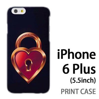 iPhone6 Plus (5.5インチ) 用『0113 恋の鍵穴 茶』特殊印刷ケース【 iphone6 plus iphone アイフォン アイフォン6 プラス au docomo softbank Apple ケース プリント カバー スマホケース スマホカバー 】の画像