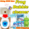 Using 2000 times Frog Bubble Cleaner / Toilets sinks drains/ ★BlueStar Toilet Cleaner★Cleaning toilets★Cleaning Tool★FREE Shipping★Cleaner★magic★Haze★BUBBLE