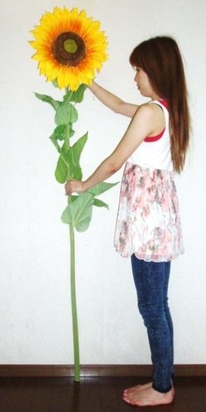 ●代引き不可送料無料ジャンボひまわり1.8m夏 造花92181の画像