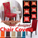 【Local stock!】【CNY Special! 148+ more designs!】Cushion cover! Stretchable Chair Cover★more than 100 patterns colors ★ Polyester Spandex ★For Home Wedding Party Chair Cover