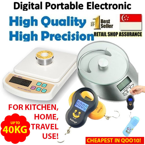 ?SG Seller?Digital LCD Weighing Scale Precision Kitchen Portable for Baking cooking weight travel Deals for only S$15.9 instead of S$0