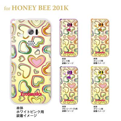 【HONEY BEE ケース】【201K】【Soft Bank】【カバー】【スマホケース】【クリアケース】【Vuodenaika】 21-201k-ne0004の画像