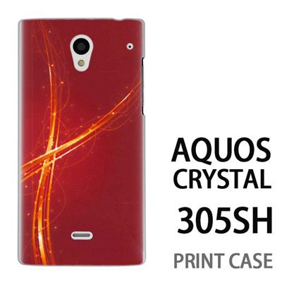 AQUOS CRYSTAL 305SH 用『1204 クロスリボン 赤』特殊印刷ケース【 aquos crystal 305sh アクオス クリスタル アクオスクリスタル softbank ケース プリント カバー スマホケース スマホカバー 】の画像