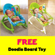 [FREE Toy]Newborn to Toddler Baby Rocker♥FREE Doodle Board♥Seahorse♥Diaper Bag Mummy♥Fisher-Price