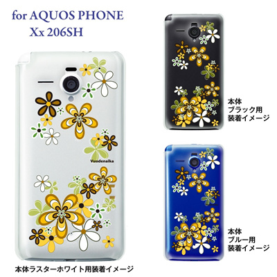 【AQUOS PHONE Xx 206SH】【206sh】【Soft Bank】【カバー】【ケース】【スマホケース】【クリアケース】【Vuodenaika】【フラワー】 21-206sh-ne0044の画像
