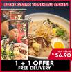 BLACK GARLIC RAMEN   Japanese Tonkotsu Ramen   2 serving per pack MARUTAI KURO MAYU RAMEN YAMAGOYA KARANO OKURIMONO