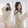 [花開く候]韓国ファッション★ ロング ニット・ワンピース