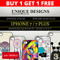 【BUY1 GET 1 FREE】iPhone 7/7 Plus/ Note 7 Unique Design Phone Casing Covers for iPhone 5/5S/SE/6/6S/6SPlus Samsung S3/S4/S5/S6/S7 Note 3/4/5[SINGAPORE SELLER]