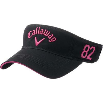キャロウェイ(Callaway) レディース ベーシック バイザー 15 JM BLK/PNK 【ウィメンズ ゴルフ 帽子 15】の画像