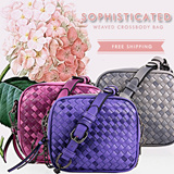 2015 SUMMER NEW ARRIVALS - EYE-CATCHING WEAVED CROSSBODY BAG SHOULDER BAG FASHION WOMEN LADIES MINIBAGS  LB-CC04