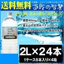 【送料無料】ミネラルウォーター 2l 24本 天然バナジウムウォーター「富士山麓、湧水の郷から届きました」 水 2l 6本 x 4箱