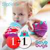 SipSnap TOT/KID(Spill proof Sippy lid) + Scrubbugs(Hand Washing Dr. Brush)
