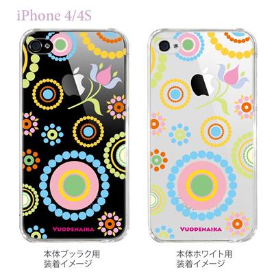 【Vuodenaika】【iPhone4/4Sケース】【カバー】【スマホケース】【クリアケース】【フラワー】 21-ip4-ne0007caの画像