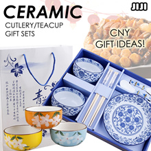 ❀ CNY GIFT IDEAS  ❀ CERAMIC TEA SETS ❀ CUTLERY TEAPOTS CHOPSTICKS TEACUPS PLATES DISH ❀ Beautiful Traditional Pattern Design ❀ Flower Japanese Blossom ❀ Handicraft Handcrafted ❀