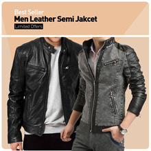 Clearance Sale! Men Semi Leather Jacket Collection