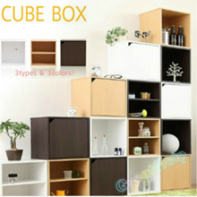 ★CUBE STORAGE BOX ★MDF WOOD ★STACKABLE ★DIY★HOUSEHOLD ★SPACE SAVING★EASY INSTALL