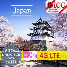 ◆ ICC◆【Japan Sim Card·5/10/15/20/30 Days】4GLTE+Unlimited Data❤Local Docomo Sim❤Can top up 4GLTE data