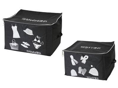 セットでお得!【送料無料】ストレージボックス(SUMMER/WINTER)☆ファスナー付き収納ボックス☆非常に大きいサイズの収納ボックス☆使わない時は、折り畳んでコンパクトに!☆ランドリー、サニタリーの収納に☆の画像