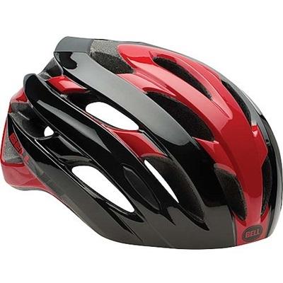 ベル(BELL) ヘルメット EVENT / イベント ROAD SPORTS レッド/ブラックロードブロック 【自転車 サイクル レース 安全 二輪】の画像
