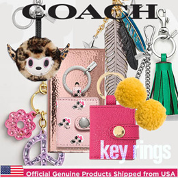 ★Best gift idea★COACH/Key Charm Bag Charm/Offiicial Genuine Products Shipped from USA