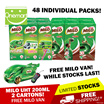 ◄ FREE MILO VAN ► MILO 6 x 200ml ACTIVGO Drink Packs (48 INDIVIDUAL PACKS) • FRESH STOCKS •