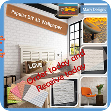 🇸🇬[3D WallPaper]🇸🇬  3D self adhesive backed wallpaper