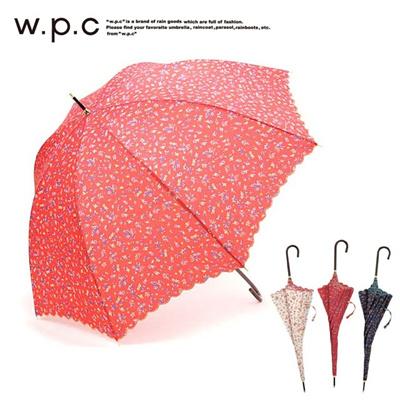 ワールドパーティー W.p.c 長傘 フラワーリブスカラップの画像