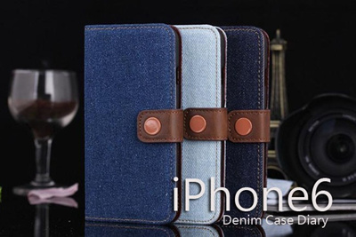 iPhone6カバーアイホン6 アイフォン6ケース【iPhone6 4.7インチ】 iPhone6用Denim Diary(デニム ダイアリー)【メール便送料無料】の画像