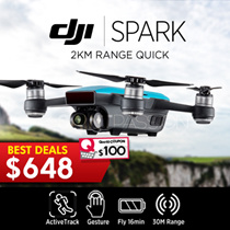 DJI SPARKS ! Seize the Moment! 2km Range, Intelligent Flight Mode, Quick Shot , TapFly, Active Track, Gesture, Mechanical Gimbal Stabilization, Powerful Lens, HD Wi Fi Video Transmission