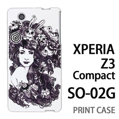 XPERIA Z3 Compact SO-02G 用『0713 幻想的な女性』特殊印刷ケース【 xperia z3 compact so-02g so02g SO02G xperiaz3 エクスペリア エクスペリアz3 コンパクト docomo ケース プリント カバー スマホケース スマホカバー】の画像