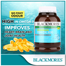 [BLACKMORES official e-store] Odourless Fish Oil 1000 400caps(Best Before Feb 2019)